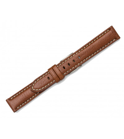 Classic padded strap with contrast stitching