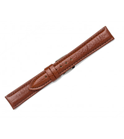 Padded leather strap with classic tip